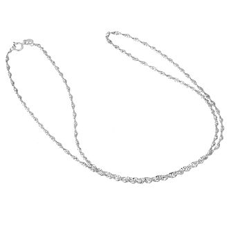 "9ct White Gold 20"" Singapore Chain - Product number 6512518"