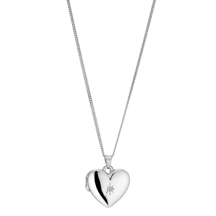 Hot Diamonds Sterling Silver Heart Locket Pendant - Product number 6547664