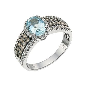 aqua engagement princess aquamarine rings
