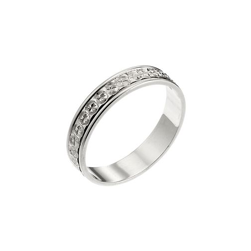 9ct White Gold Patterned Wedding Ring - Product number 6645216