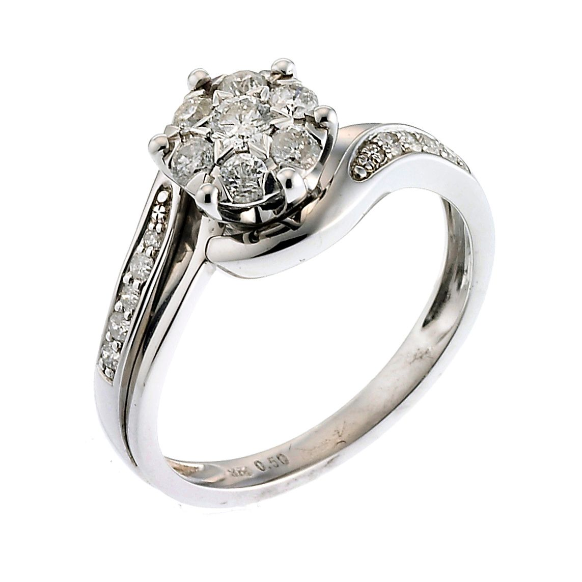 engagement with of round half karat fresh ring diamond carat halo