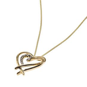 9ct Gold Diamond Set Heart Pendant - Product number 6669697
