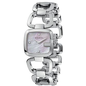 Gucci G-Gucci ladies' diamond stainless steel bracelet watch - Product number 6789692