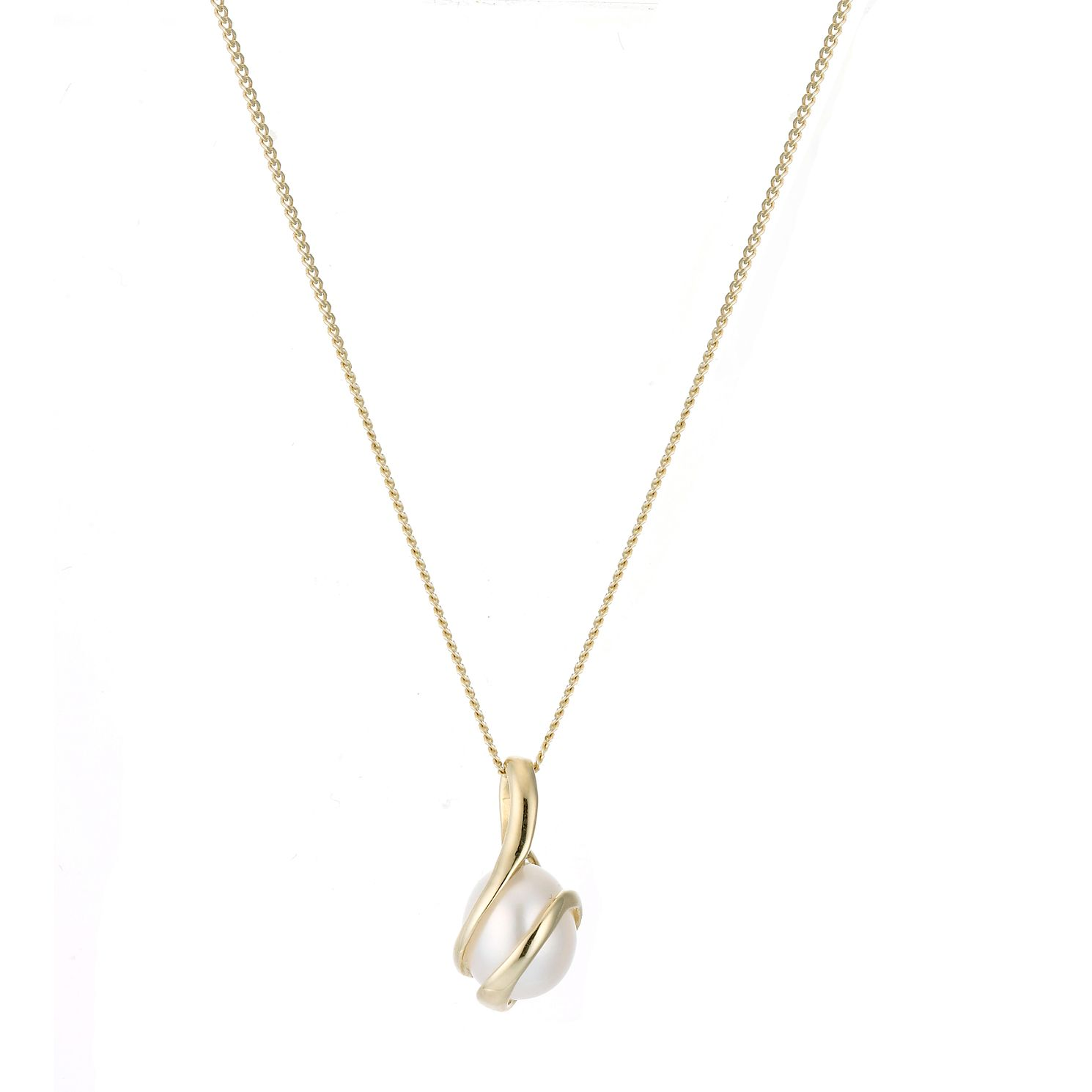 9ct yellow gold cultured freshwater pearl pendant ernest jones in stock mozeypictures Choice Image