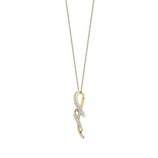9ct gold diamond pendant - Product number 6861938