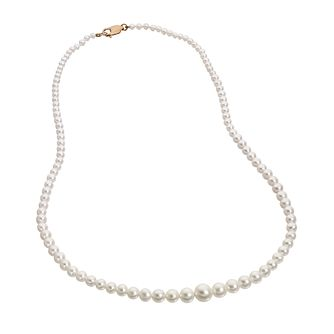 "9ct gold 17"" graduated cultured freshwater pearl necklace - Product number 6861970"