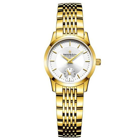 Dreyfuss & Co Ladies' Gold PVD Bracelet Watch - Product number 6889751