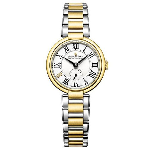 Dreyfuss & Co Ladies' Two Tone Steel Bracelet Watch - Product number 6889883