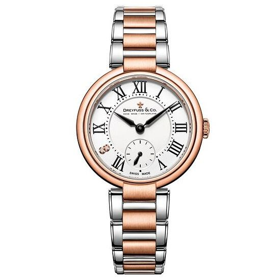 Dreyfuss & Co Ladies' Two Tone Steel Bracelet Watch - Product number 6889905