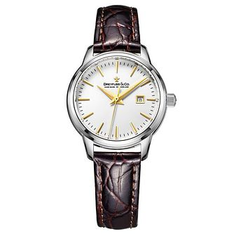 Dreyfuss & Co Ladies' Brown Leather Strap Watch - Product number 6889913