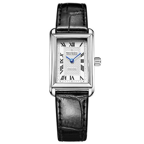 Dreyfuss & Co Ladies' Black Leather Strap Watch - Product number 6889921