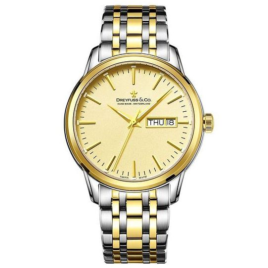Dreyfuss & Co Men's Two Tone Stainless Steel Bracelet Watch - Product number 6889964
