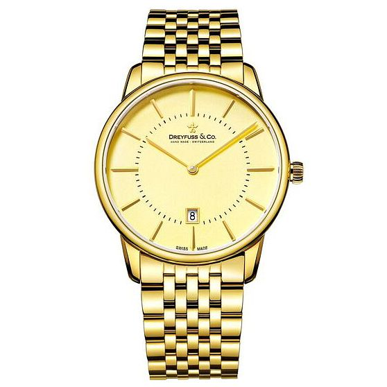Dreyfuss & Co Men's Gold PVD Bracelet Watch - Product number 6889980