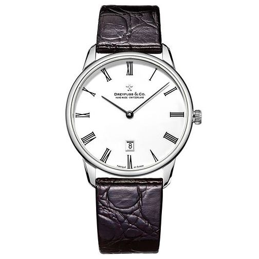 Dreyfuss & Co Men's Black Leather Strap Watch - Product number 6890091