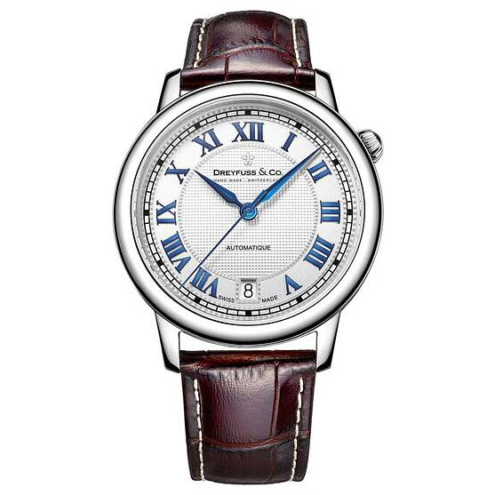 Dreyfuss & Co Men's Brown Leather Strap Watch - Product number 6890148