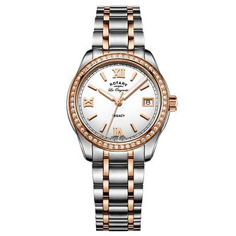 Rotary Ladies' Two Tone Rose Gold Plated Bracelet Watch - Product number 6892108