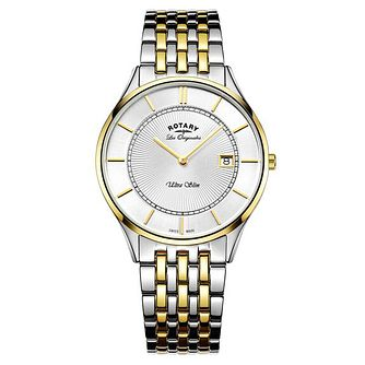 Rotary Men's Two Tone Stainless Steel Bracelet Watch - Product number 6892248