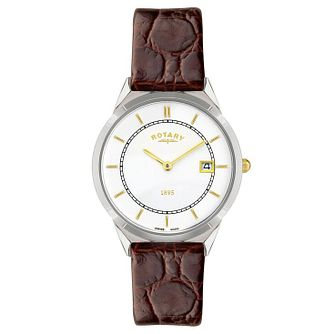 Rotary Men's Brown Leather Strap Watch - Product number 6892256