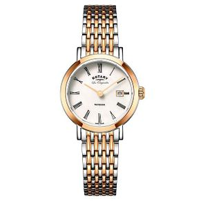 Rotary Men's Two Tone Rose Gold Plated Bracelet Watch - Product number 6892310