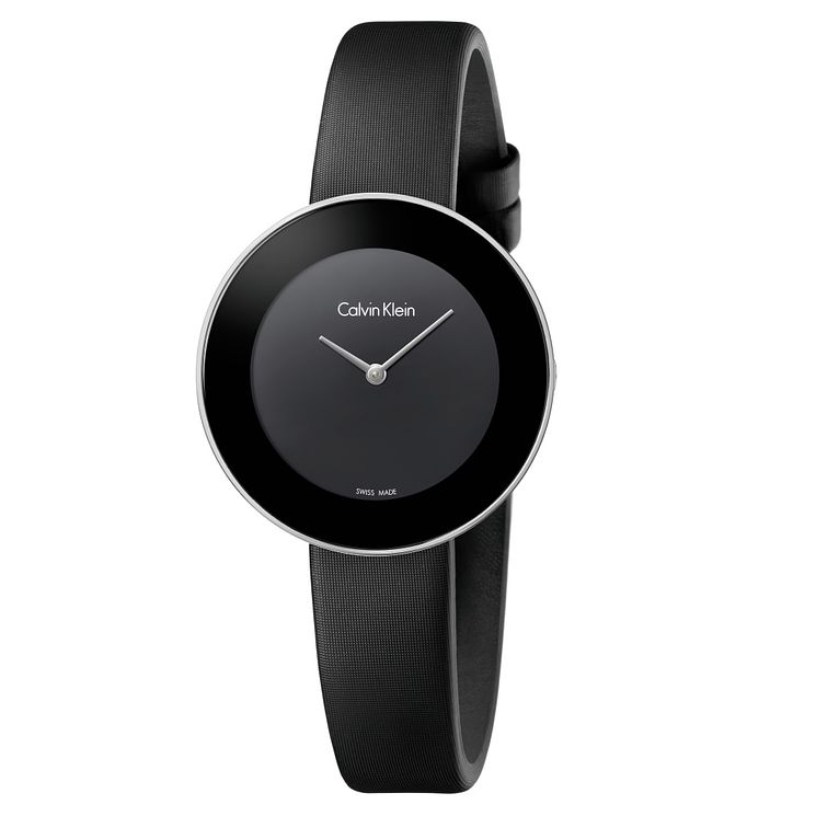 Calvin Klein Ladies' Black Satin Strap Watch - Product number 6892434