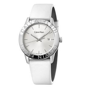 Calvin Klein Ladies' White Leather Strap Watch - Product number 6892485