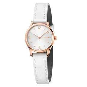 Calvin Klein Ladies' White Leather Strap Watch - Product number 6892507