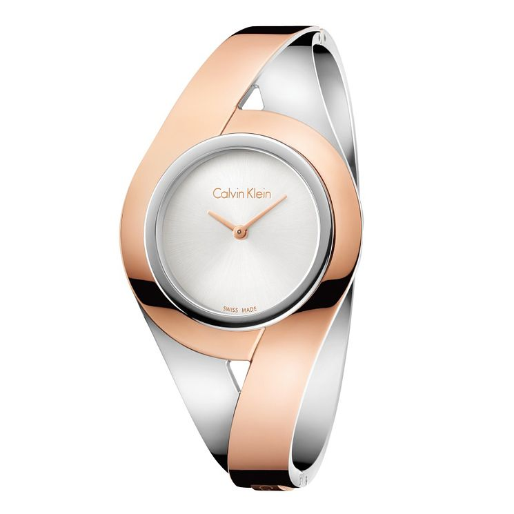 Calvin Klein Ladies' Two Tone Stainless Steel Bracelet Watch - Product number 6892515
