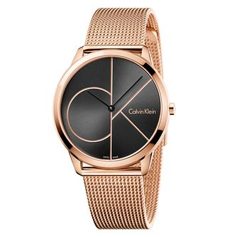 Calvin Klein Men's Rose Gold Plated Mesh Bracelet Watch - Product number 6892590