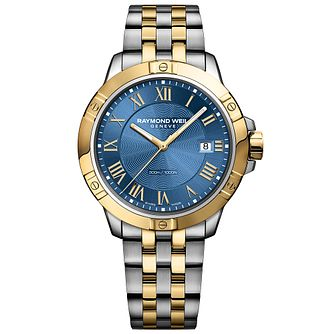 Raymond Weil Tango Men's Two Colour Blue Bracelet Watch - Product number 6893031