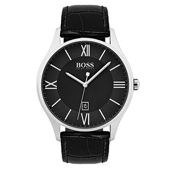 Hugo Boss Men's Stainless Steel Black Strap Watch - Product number 6893082