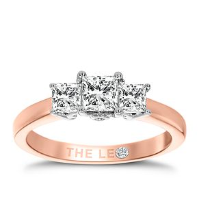 Leo Diamond 18ct Rose Gold 3 Stone 0.75ct II1 Diamond Ring - Product number 6899390