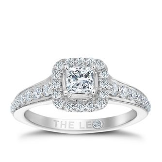 Leo Diamond Platinum 3/4ct II1 Diamond Halo Ring - Product number 6900208