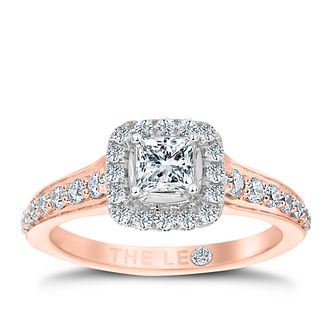 Leo Diamond 18ct Rose Gold 3/4ct II1 Diamond Halo Ring - Product number 6900321