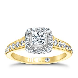 Leo Diamond 18ct Yellow Gold 3/4ct II1 Diamond Halo Ring - Product number 6900453