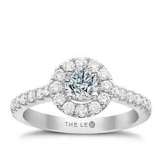 Leo Diamond Platinum 1ct Diamond Round Halo Ring - Product number 6900593