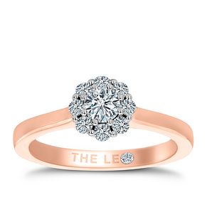 Leo Diamond 18ct Rose Gold 1/2ct II1 Diamond Cluster Ring - Product number 6902324