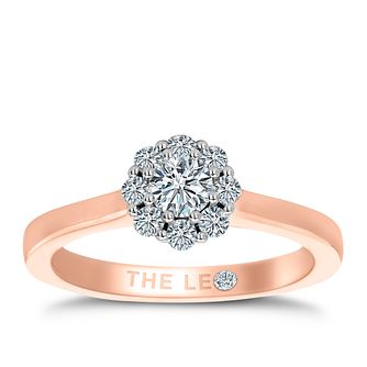 Leo Diamond 18ct Rose Gold 0.50ct II1 Diamond Cluster Ring - Product number 6902324