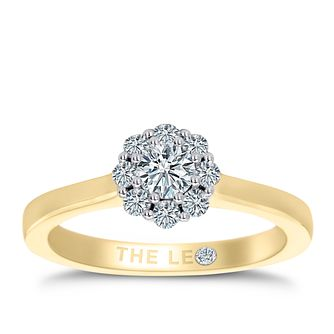 Leo Diamond 18ct Yellow Gold 1/2ct II1 Diamond Cluster Ring - Product number 6902588