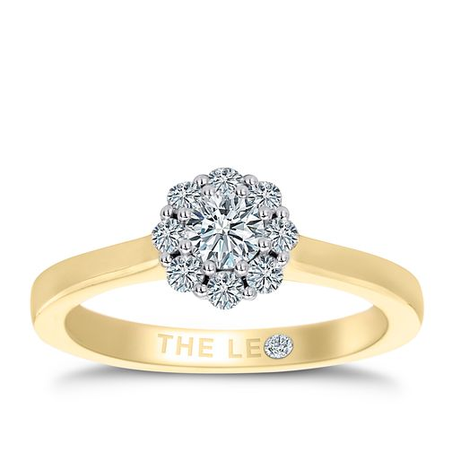 Leo Diamond 18ct Yellow Gold 0.50ct II1 Diamond Cluster Ring - Product number 6902588