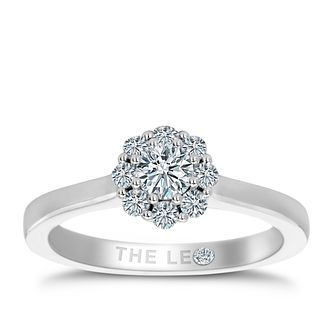 Leo Diamond Platinum 0.50ct II1 Diamond Cluster Ring - Product number 6902847