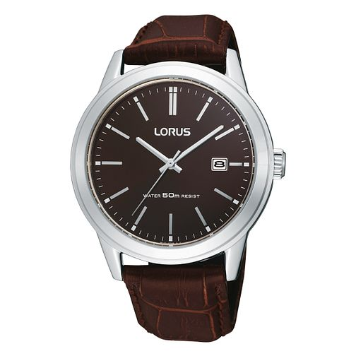 Lorus Men's Brown Strap Watch - Product number 6905692