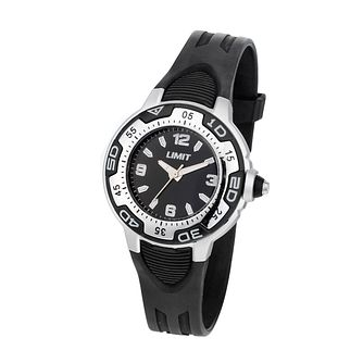 Limit Child's Black Dial Black Strap Watch - Product number 6907830