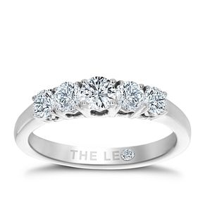 Leo Diamond Platinum 5 Stone 3/4ct II1 Eternity Ring - Product number 6908144