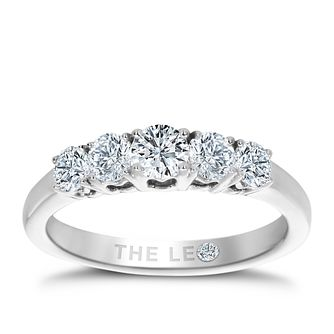 Leo Diamond Platinum 5 Stone 0.75ct II1 Eternity Ring - Product number 6908144