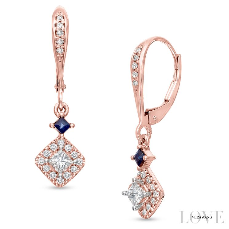 Vera Wang 18ct Rose Gold 0.45ct Diamond Earrings - Product number 6909795