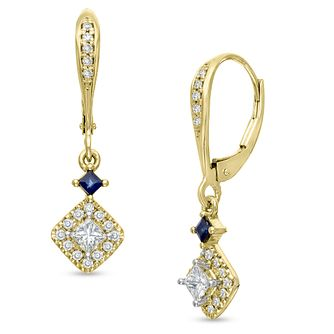 Vera Wang 18ct Yellow Gold 0.45ct Diamond Earrings - Product number 6909809
