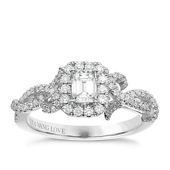 Vera Wang Platinum 0.70ct Diamond Halo Ring - Product number 6910246