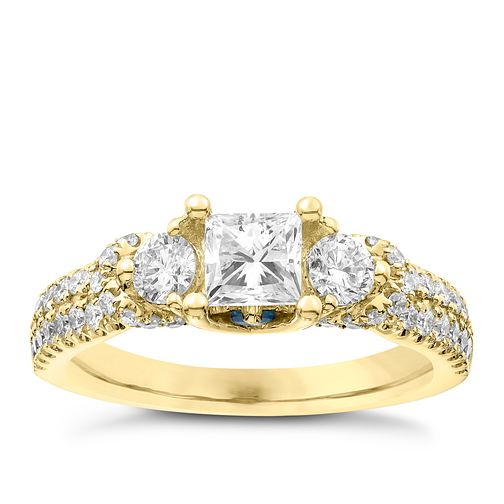 Vera Wang 18ct Yellow Gold 1.30ct 3 Stone Diamond Ring - Product number 6910890
