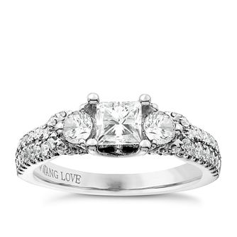 Vera Wang Platinum 1.30ct 3 Stone Diamond Ring - Product number 6911021