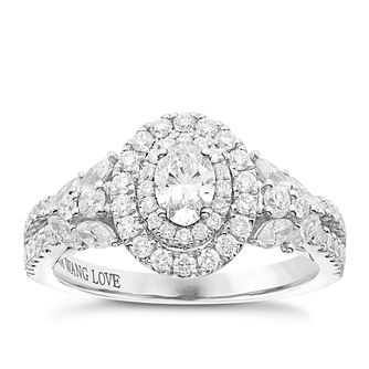 Vera Wang Platinum 1.18ct Diamond Double Halo Ring - Product number 6911153
